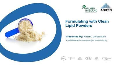 Formulating with Clean Lipid Powders
