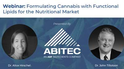 Formulating Cannabis with Functional Lipids for the Nutritional Market