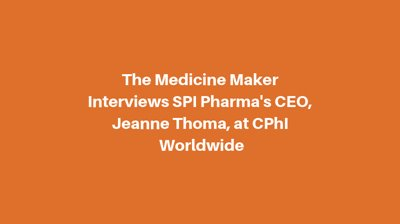 Jeanne Thoma Discusses SPI Pharma's Role in the Pediatric and Geriatric Drug Markets.